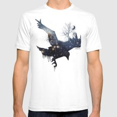 Space Raven SMALL White Mens Fitted Tee