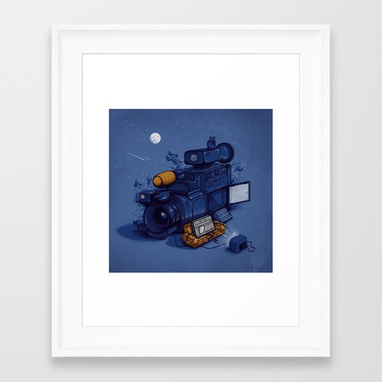 Movie Break Framed Art Print