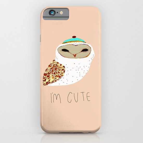 i'm cute owl illustration  iPhone & iPod Case