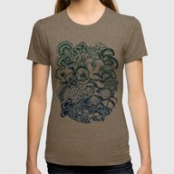 A Medley Of Mushrooms In… Womens Fitted Tee Tri-Coffee LARGE