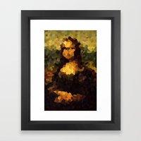 Pixelated Mona Lisa Framed Art Print