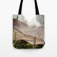 Dew Drops On A Fallen Le… Tote Bag
