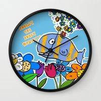 HOORAY THE HONEY WHALE Wall Clock