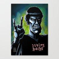 Live Long Rock & Roll Canvas Print