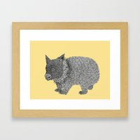 Little Wombat Framed Art Print