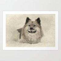 1920s Mustache - Dog Art Print