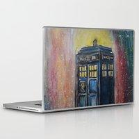 tardis Laptop & iPad Skins featuring TARDIS by EricaWise