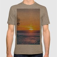 Winter Sunset Mens Fitted Tee Tri-Coffee SMALL