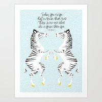 Two Zebras (Dr. Seuss) B… Art Print