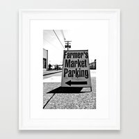 Framed Art Print featuring Market Parking Here by Vorona Photography
