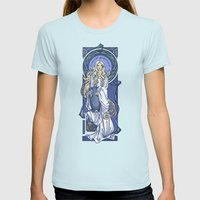 Galadriel Nouveau Womens Fitted Tee Light Blue SMALL
