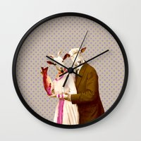 Mr & Ms Sheep Wall Clock