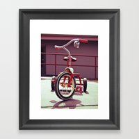 Tricycle Americana Framed Art Print