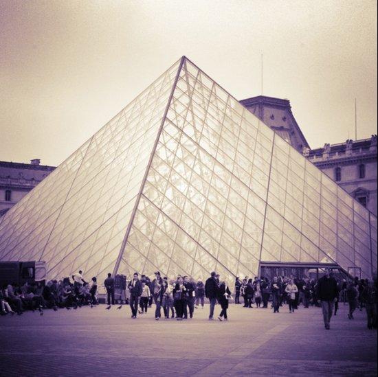 The Purple Pyramid Canvas Print