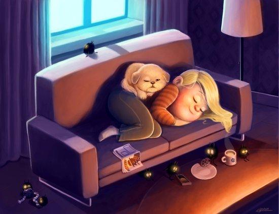 Nighty night Art Print