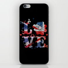 Union Jack Love iPhone & iPod Skin