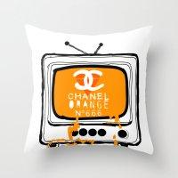 Chanel Orange Throw Pillow