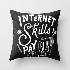 Pay the Bills Throw Pillow