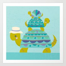 turtle tower Art Print