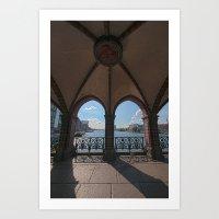 Berlin bridge Art Print