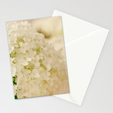 Vintage Nature Botanical White Hydrangea Flower Head Stationery Cards