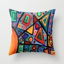 Abstract Sun Throw Pillow