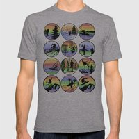 Outdoor sports Mens Fitted Tee Athletic Grey SMALL
