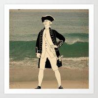 Great explorers - Captain James Cook Art Print
