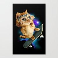 SKATEBOARD CAT Canvas Print