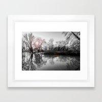 TREE-FLECTION Framed Art Print