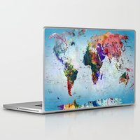 map Laptop & iPad Skins featuring map by mark ashkenazi