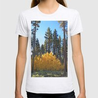 Fall Foliage Womens Fitted Tee Ash Grey SMALL