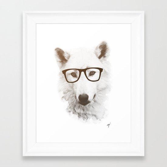 SMART WOLF Framed Art Print