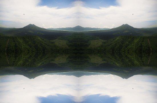mountain flip Art Print