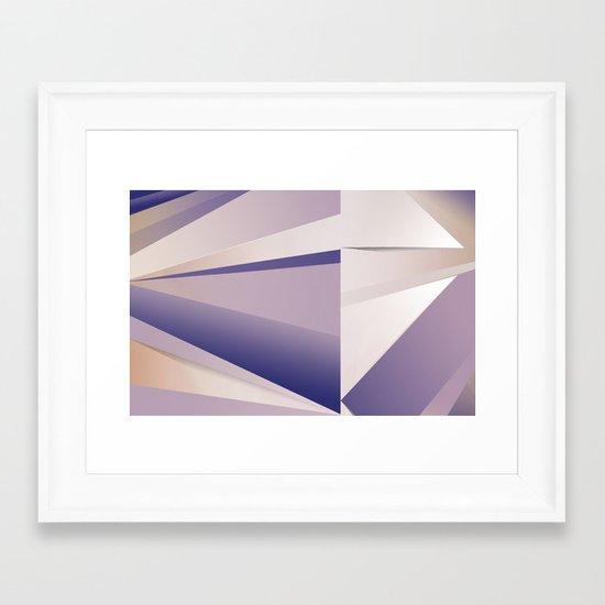 Purple Glam Framed Art Print