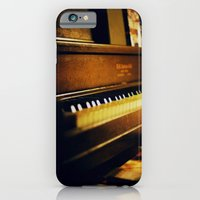 iPhone Cases featuring piano by Liz Morrison Smith