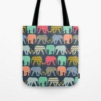 Baby Elephants And Flami… Tote Bag