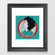 Ride Sally Ride Framed Art Print