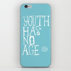 Youth Has No Age (Blue) iPhone & iPod Skin