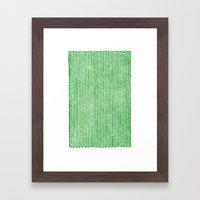 Stockinette Green Framed Art Print