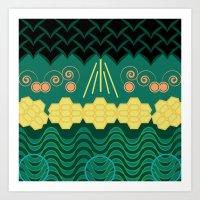 HARMONY Pattern Art Print