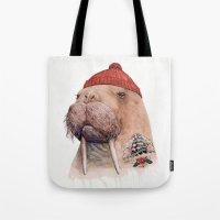 Tattooed walrus Tote Bag