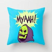 Myaah! Throw Pillow