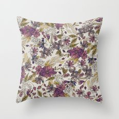 Dreaming Florals Throw Pillow