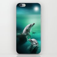 Dolphin Delights iPhone & iPod Skin