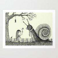 'In The Garden' Art Print