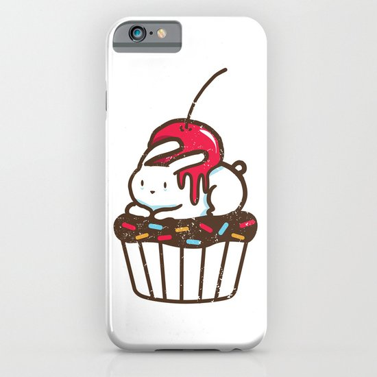 Chubby Bunny on a cupcake iPhone & iPod Case