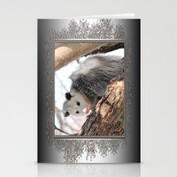 North American Opossum I… Stationery Cards