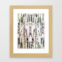 Black And White Stripes Framed Art Print