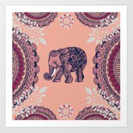 Art Print featuring Bohemian Elephant  by Rskinner1122